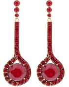 Oscar de la Renta Swarovski Crystal Drop Earrings - Lyst