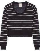 Mason by Michelle Mason Striped Cashmere And Silk Crepe De Chine Sweater - Lyst