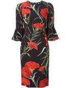 Dolce & Gabbana Carnations Print Dress - Lyst