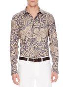 Michael Kors Floral-print Linen Shirt - Lyst