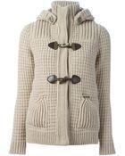 Bark Knitted Duffle Coat - Lyst