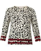 See By Chloé Leopard-Print Wool Sweater - Lyst