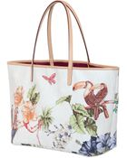 Etro Garden Printed Coated Canvas Tote Bag - Lyst