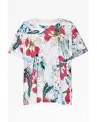 French Connection Floral Reef Printed T-Shirt - Lyst