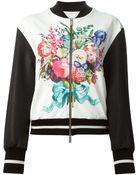 Emanuel Ungaro Floral Print Bomber Jacket - Lyst