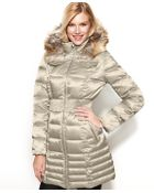 Laundry By Shelli Segal Petite Hooded Faux-Fur-Trim Down Puffer Coat - Lyst