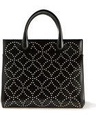 Azzedine Alaïa Black Leather Studded Arabesque Handbag - Lyst