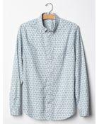 Gap Geo Floral Print Shirt - Lyst
