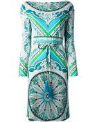 Emilio Pucci Pattern Print Shift Dress - Lyst