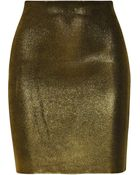 Balmain Metallic Jersey Skirt - Lyst