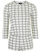 Topshop Window Pane Check Print Pyjama Set - Lyst