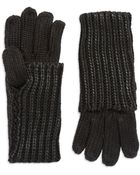 William Rast Coated Knit Gloves - Lyst