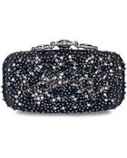 Oscar de la Renta Black Jet & Crystal Embroidered Crown Goa - Lyst