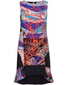 Emilio Pucci Abstract-print Crepe Dress - Lyst