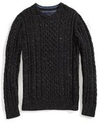 Tommy Hilfiger Cable Crew Neck Sweater - Lyst
