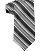 Calvin Klein Pewter Dipped Stripe Slim Tie - Lyst