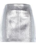River Island Silver Metallic Mini Skirt - Lyst