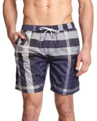 Burberry Brit Gowers Checked Swim Trunks - Lyst