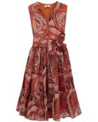 Issa Printed Silk and Cotton Blend Dress - Lyst