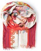 Etro Floral Print Scarf - Lyst