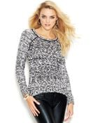 Guess Long-Sleeve Marled-Knit Sweater - Lyst
