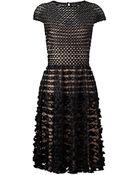 Temperley London Black Textured Trellis Dress - Lyst
