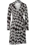 Diane von Furstenberg Silk Love Knots Wrap Dress - Lyst