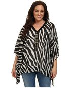 MICHAEL Michael Kors Plus Size Ghanzi Lace Up Poncho - Lyst