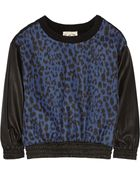 Sea Leopard-Print Wool-Blend Sweater - Lyst