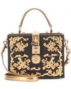Dolce & Gabbana Embellished Brocade Box Clutch - Lyst