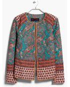 Violeta by Mango Cotton Paisley Jacket - Lyst