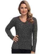 Calvin Klein Marled V-Neck Sweater - Lyst