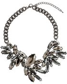 Topshop Flower Stone Necklace - Lyst