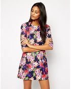 True Decadence Shift Dress in Floral Print - Lyst