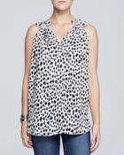 Karen Kane Cheetah Print Halter Top - Lyst