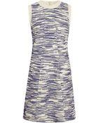 Derek Lam Boucle-Front Dress Mini Dress - Lyst