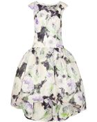 Marchesa Floral Print Silk Gazar Dress - Lyst