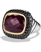 David Yurman Waverly Limitededition Ring with Ruby Black Diamonds Gold - Lyst