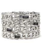 Forever 21 Faux Gem Chain Bracelet - Lyst