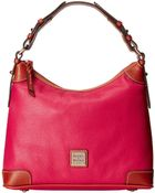 Dooney & Bourke Pebble Leather Hobo - Lyst