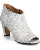 Maison Margiela Suede Peep-Toe Ankle Boots - Lyst