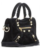 Balenciaga Giant 12 Mini City Suede Tote - Lyst