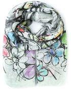 Faliero Sarti Floral Sketch Print Scarf - Lyst