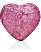Judith Leiber Couture Heart Crystal Clutch Bag - Lyst