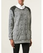 Maison Scotch Leopard Pattern Top - Lyst