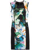 Roberto Cavalli Printed Stretch Jersey Dress - Lyst