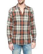 True Religion Double Pocket Plaid Mens Shirt - Lyst