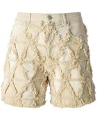 Isabel Marant Frayed Seam Denim Shorts - Lyst