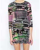 Ax Paris Swing Dress In Geometric Print - Lyst