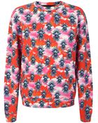 House Of Holland Tropical Dove Sweatshirt - Lyst